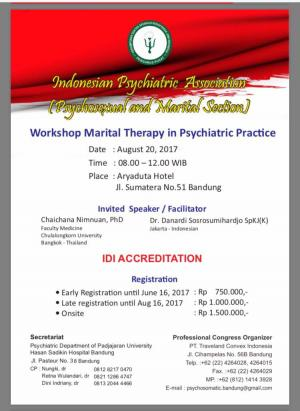Workshop Marital Therapy..